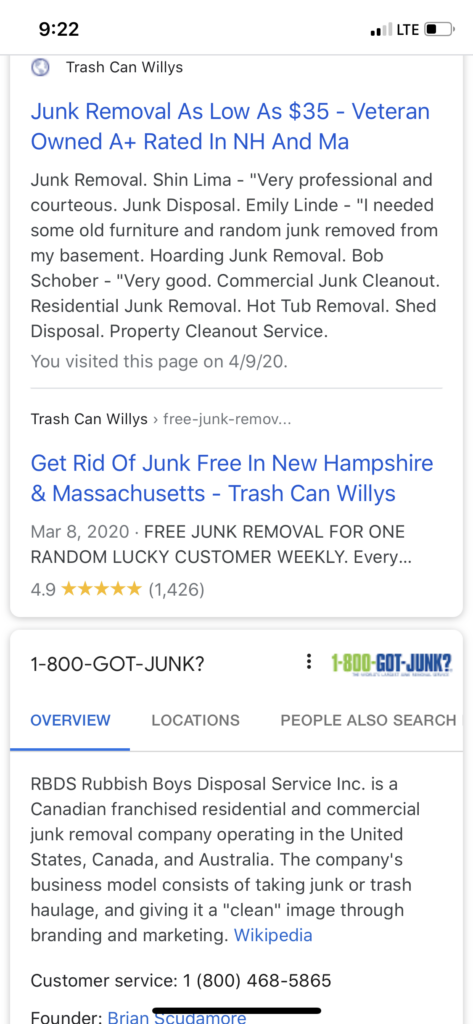 Screen 4 - Double Organic Rankings With Review Snippet